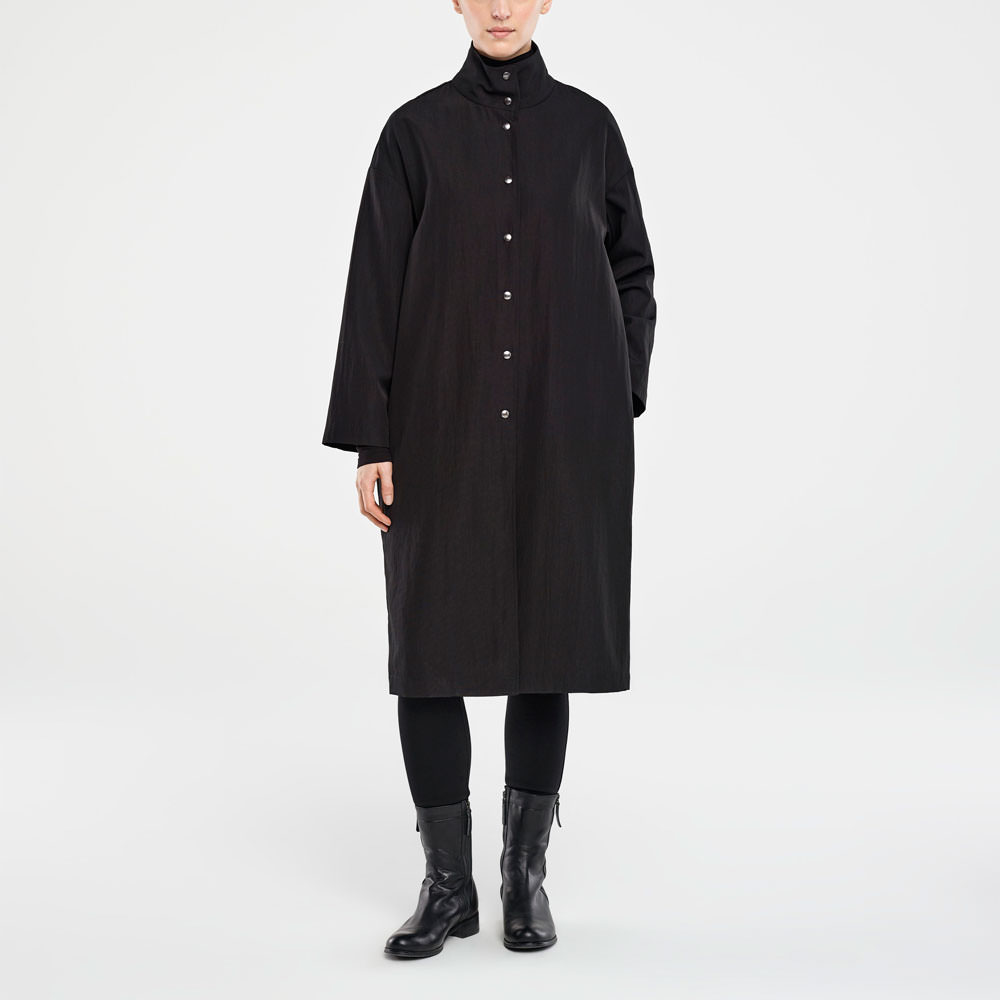 Sarah Pacini LONG MANTEAU De face