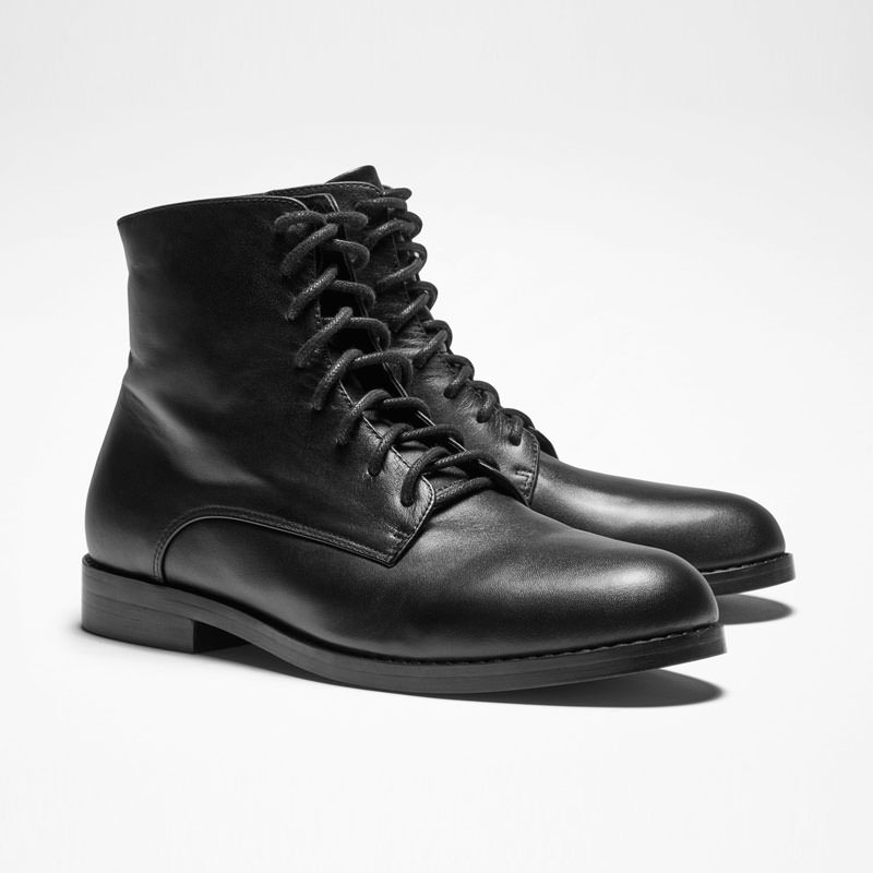 Sarah Pacini BOTTINES EN CUIR De face