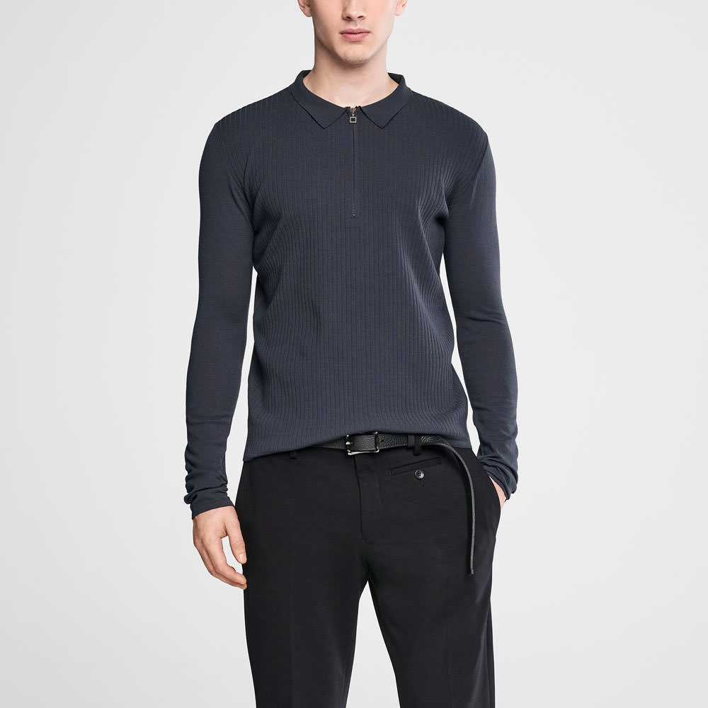 Sarah Pacini Zipped polo sweater Front