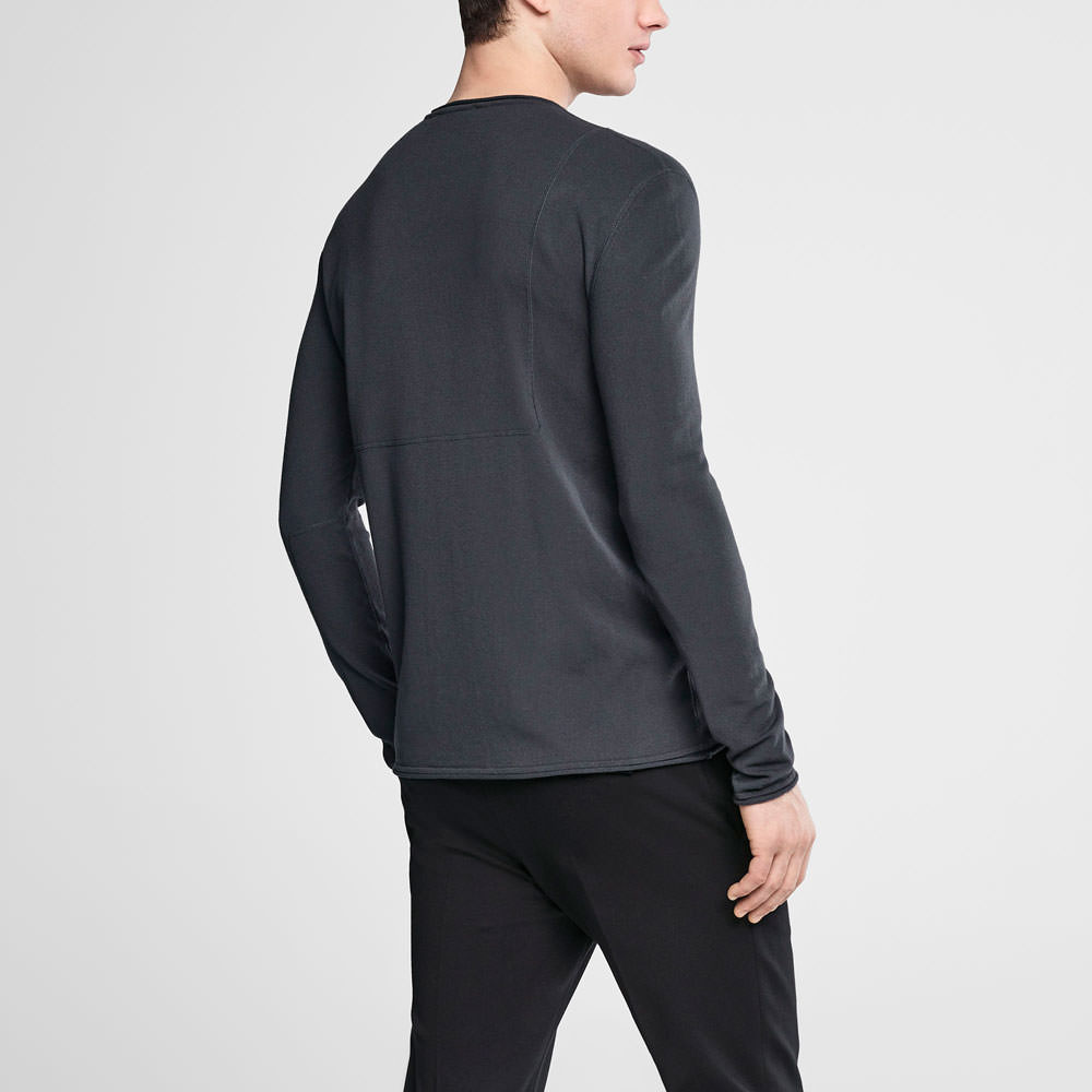 Sarah Pacini Henley sweater Back view