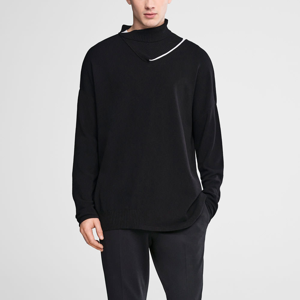 Sarah Pacini Asymmetrical sweater - adjustable neckline Front