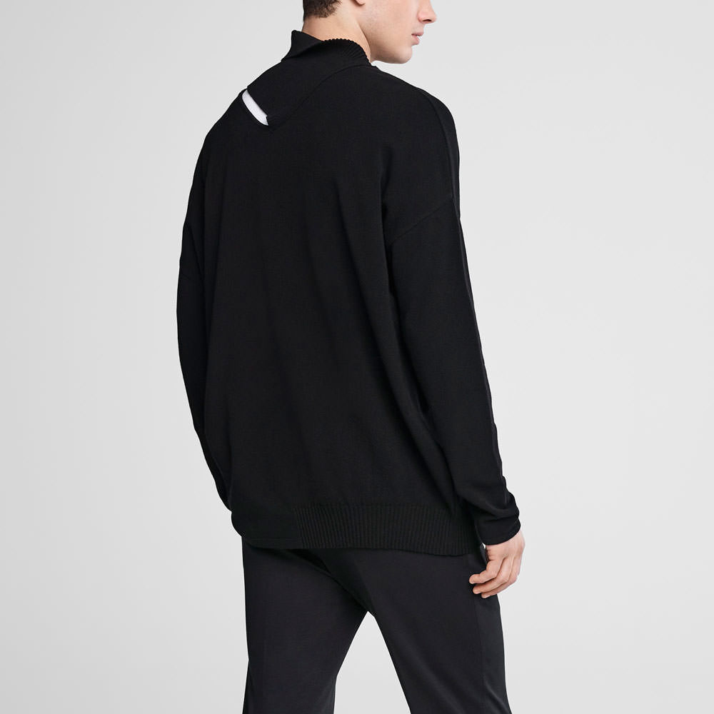 Sarah Pacini Asymmetrical sweater - adjustable neckline Back view