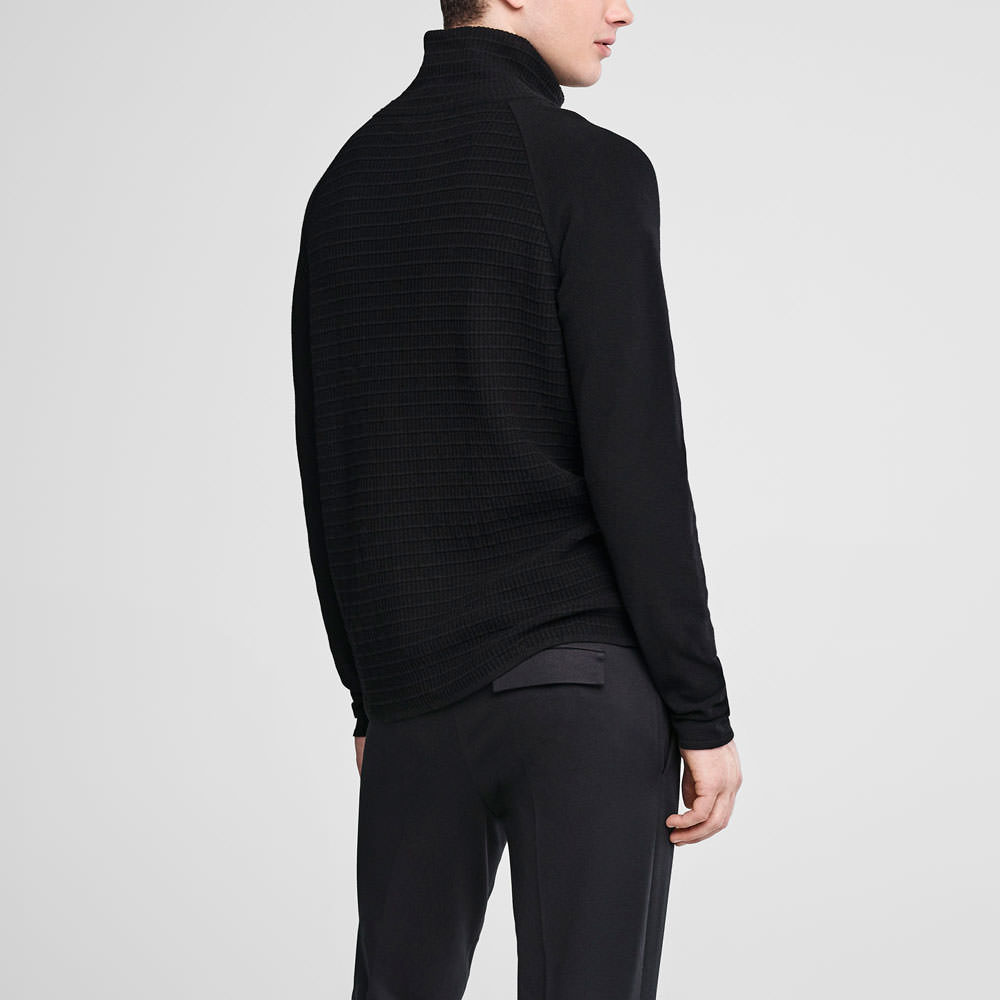 Sarah Pacini Zipped mock neck sweater Back view