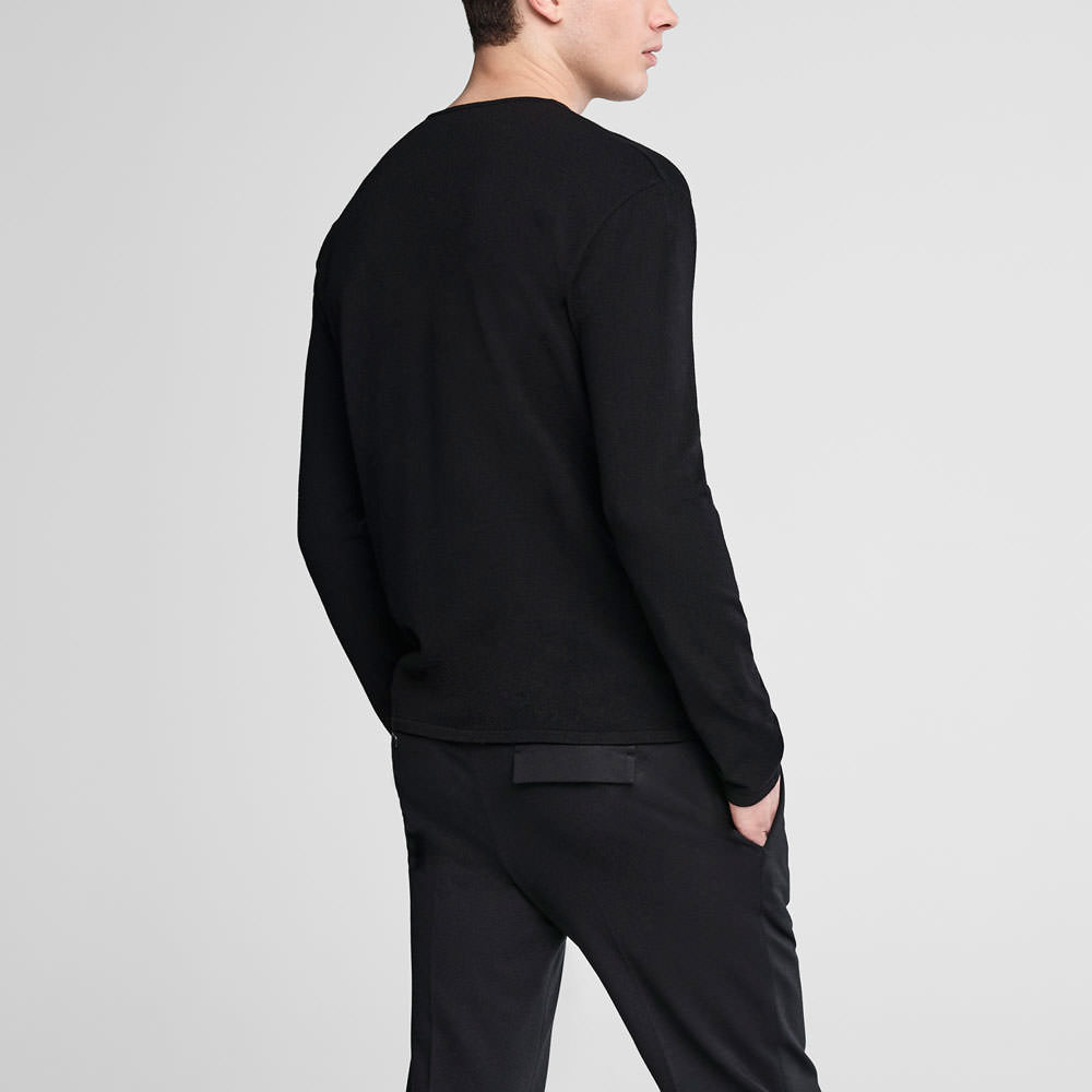 Sarah Pacini Asymmetrical crewneck sweater Back view
