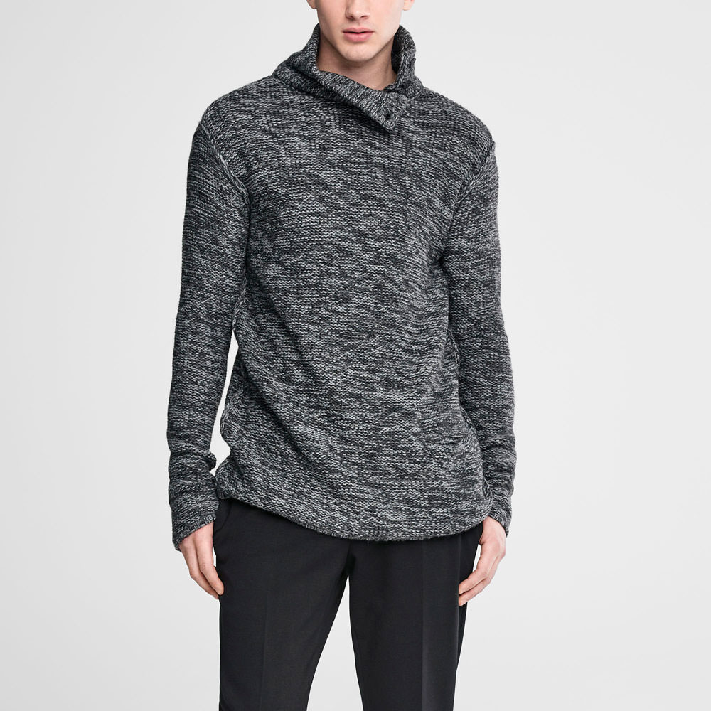Sarah Pacini Long chiné sweater Front