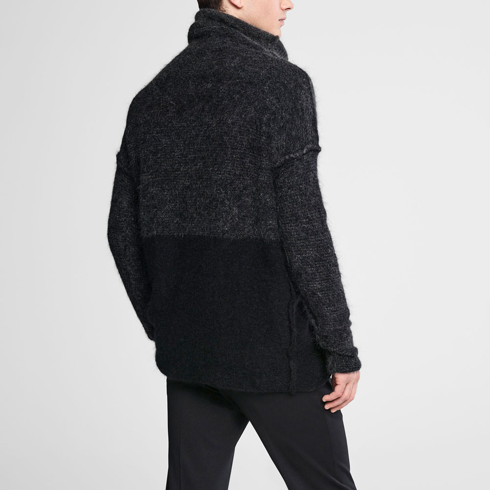 Sarah Pacini Ombré mohair sweater - mock neck Back view