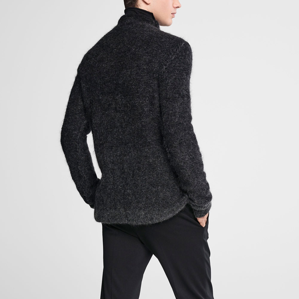 Sarah Pacini Ombré mohair sweater - funnel neck Back view