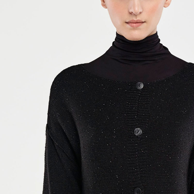 Sarah Pacini REVERSIBLE CARDIGAN - BRILLIANT KNIT Front
