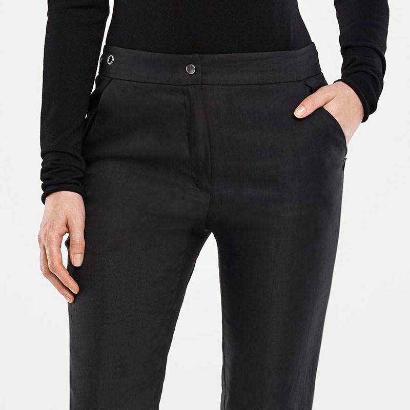 Sarah Pacini STRETCH LINEN PANTS Front