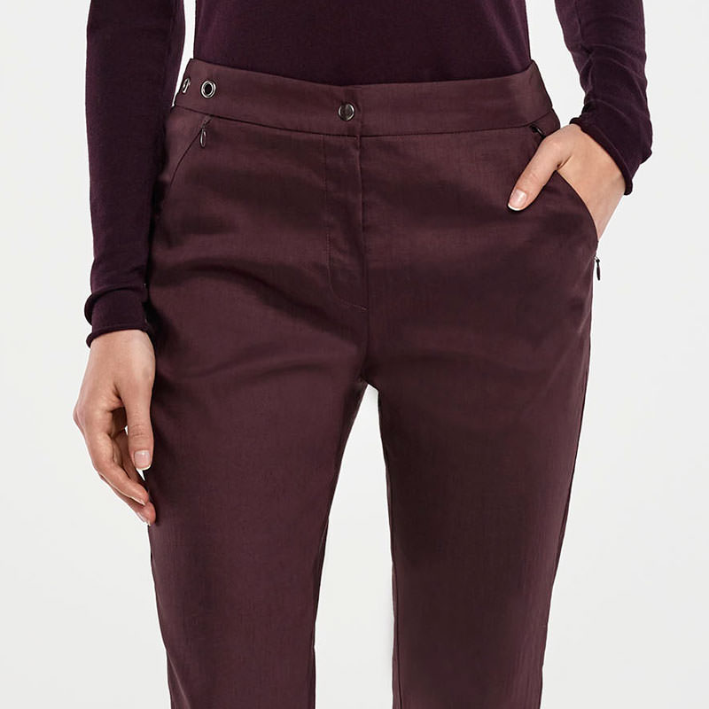 Sarah Pacini STRETCH LINEN PANTS Front