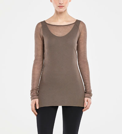 Sarah Pacini TRANSPARENTER SWEATER Vorne