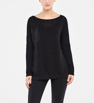 Sarah Pacini LONG SWEATER - HONEYCOMB DESIGN Front