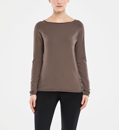 Sarah Pacini BOAT NECK SWEATER Front