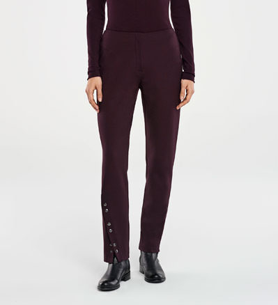 Sarah Pacini SLIM PANTS - SNAP BUTTON SLIT Front