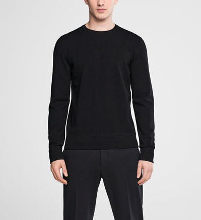 Sarah Pacini Crewneck sweater - double knit Front