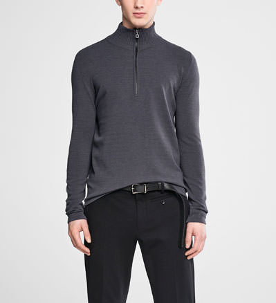 Sarah Pacini Zipped mock neck sweater Front