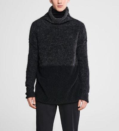Sarah Pacini Ombre mohair trui - opstaande hals Voorzijde