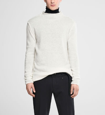 Sarah Pacini Mohair sweater - funnel neck Front