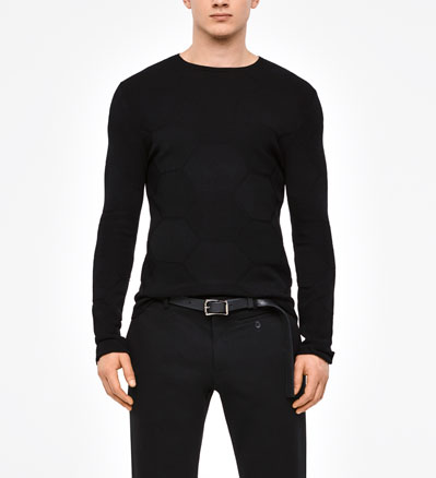 Sarah Pacini CREWNECK SWEATER - HONEYCOMB DESIGN Front