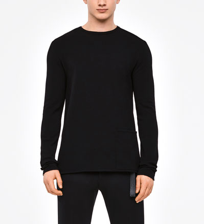 Sarah Pacini URBAN SWEATER - PATCH POCKET Front