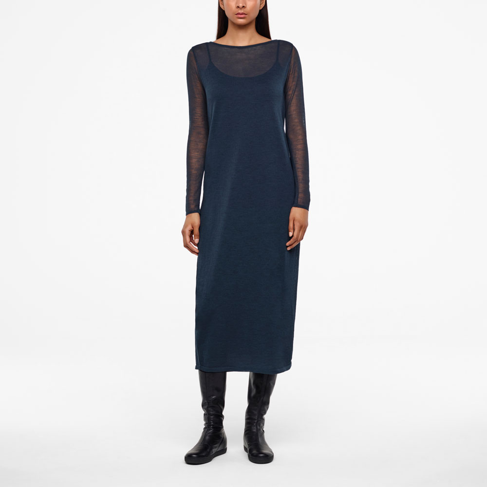 Sarah Pacini VEIL DRESS - FULL SLEEVES Front