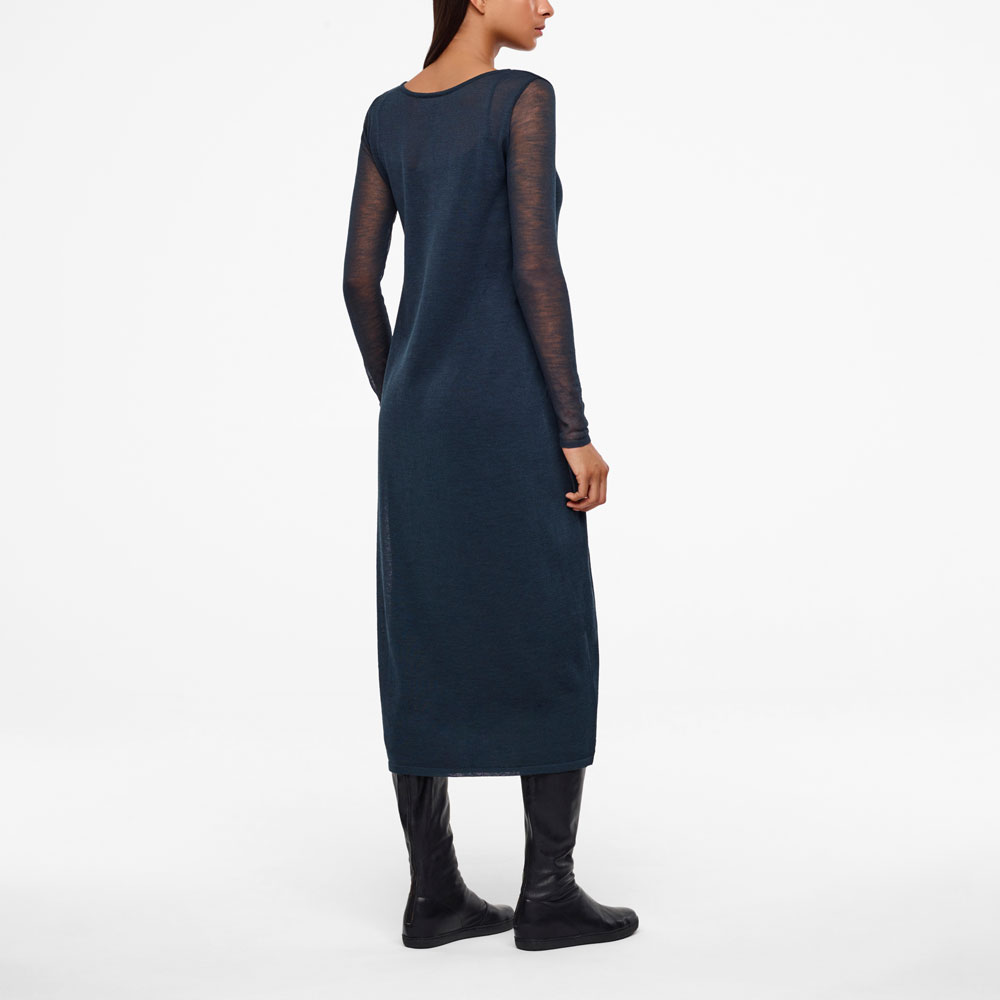 Sarah Pacini VEIL DRESS - FULL SLEEVES Back view