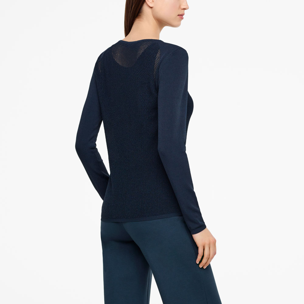Sarah Pacini MESH SWEATER - RAGLAN SLEEVES Back view