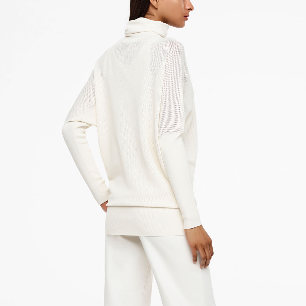 Sarah Pacini SEAMLESS SWEATER - COWL NECK Back view