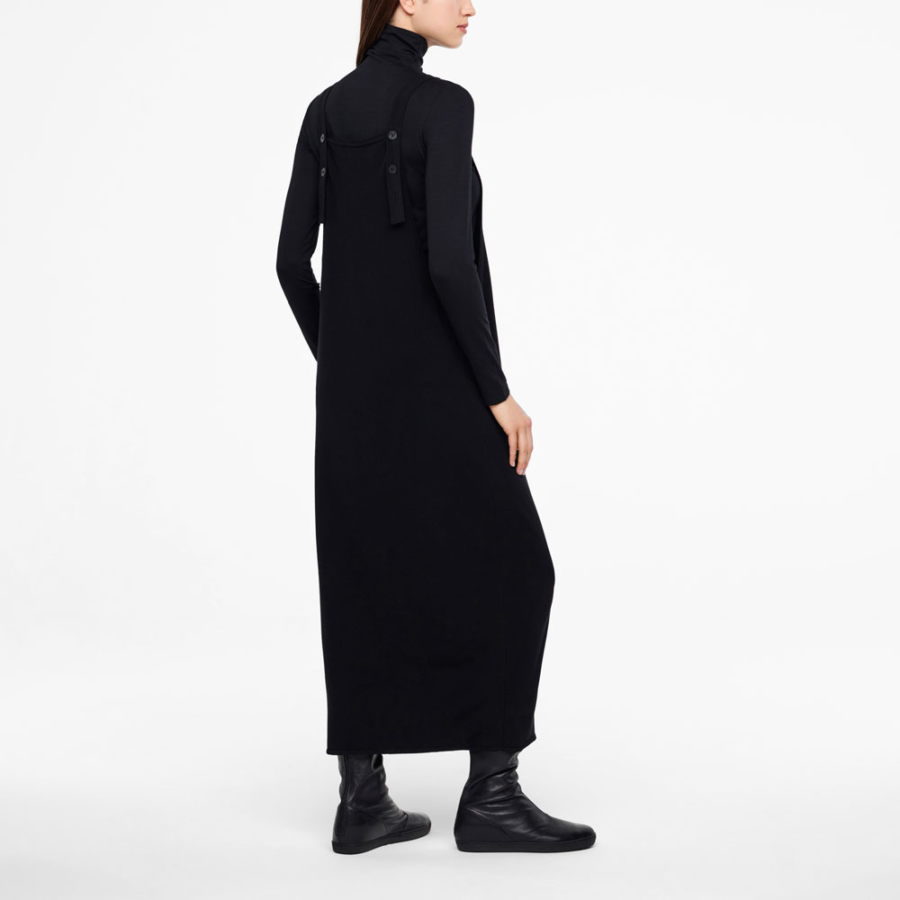 Sarah Pacini MAXI DRESS - BUTTONED STRAPS Back view