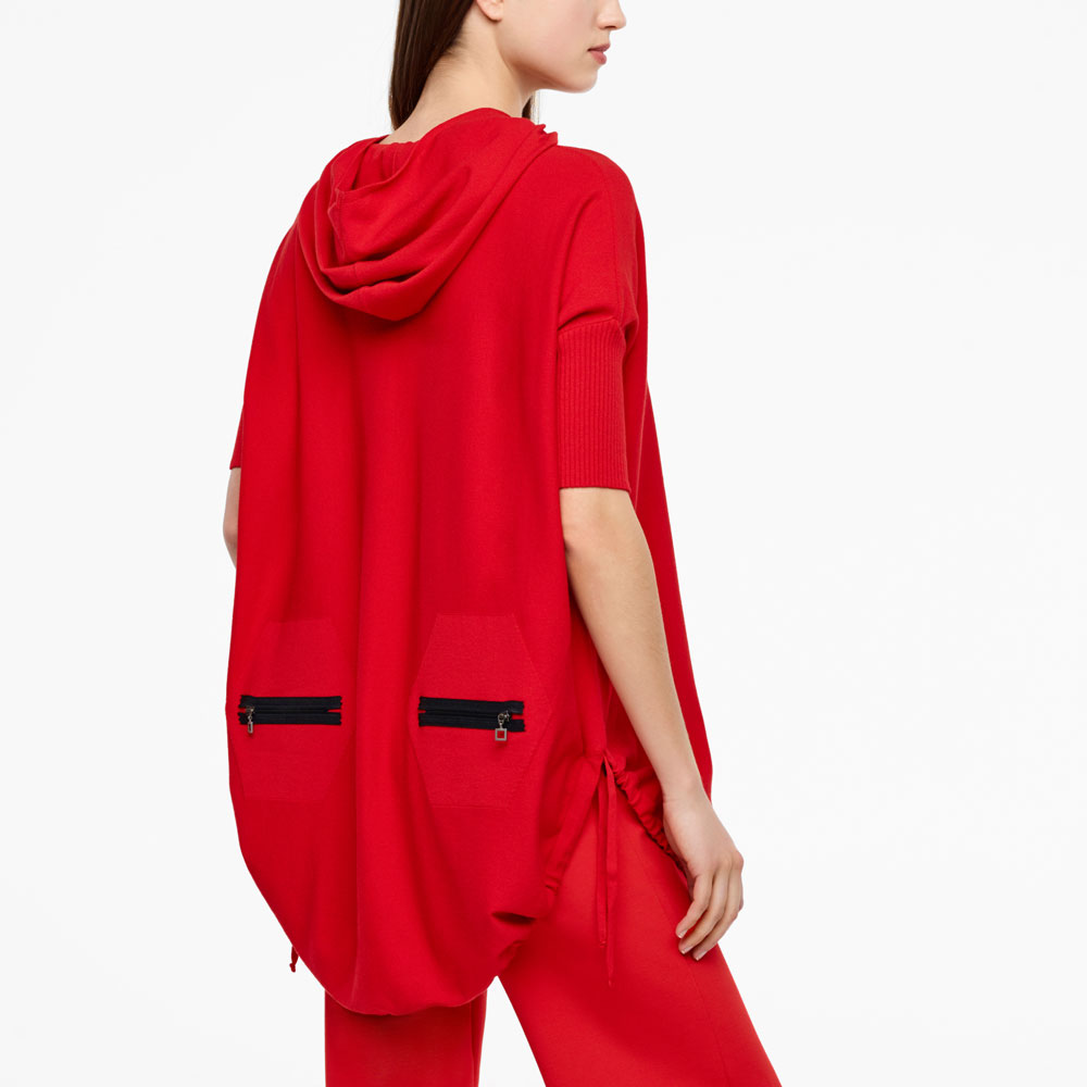 Sarah Pacini URBAN HOODIE - SHORT SLEEVES Back view