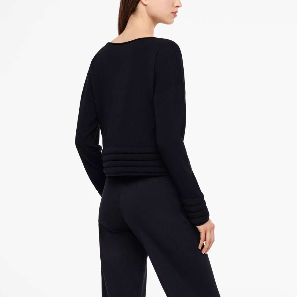 Sarah Pacini PADDED SWEATER - FULL SLEEVES Back view