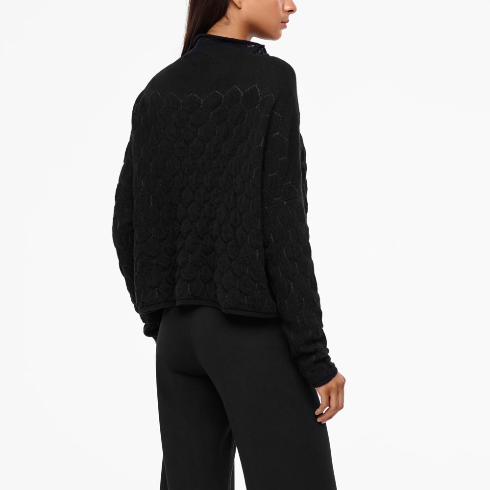 Sarah Pacini HONEYCOMB SWEATER Back view