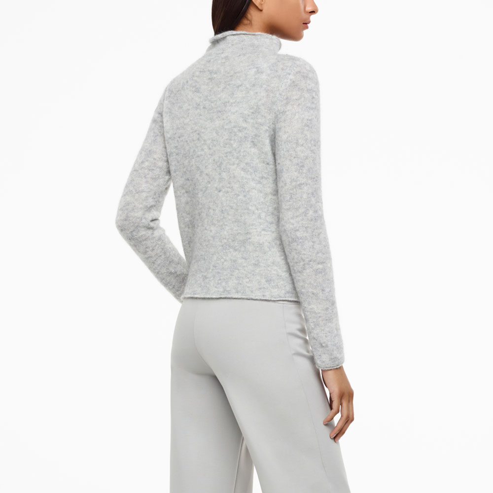 Sarah Pacini MOHAIR-MERINO SWEATER - FULL SLEEVES Back view