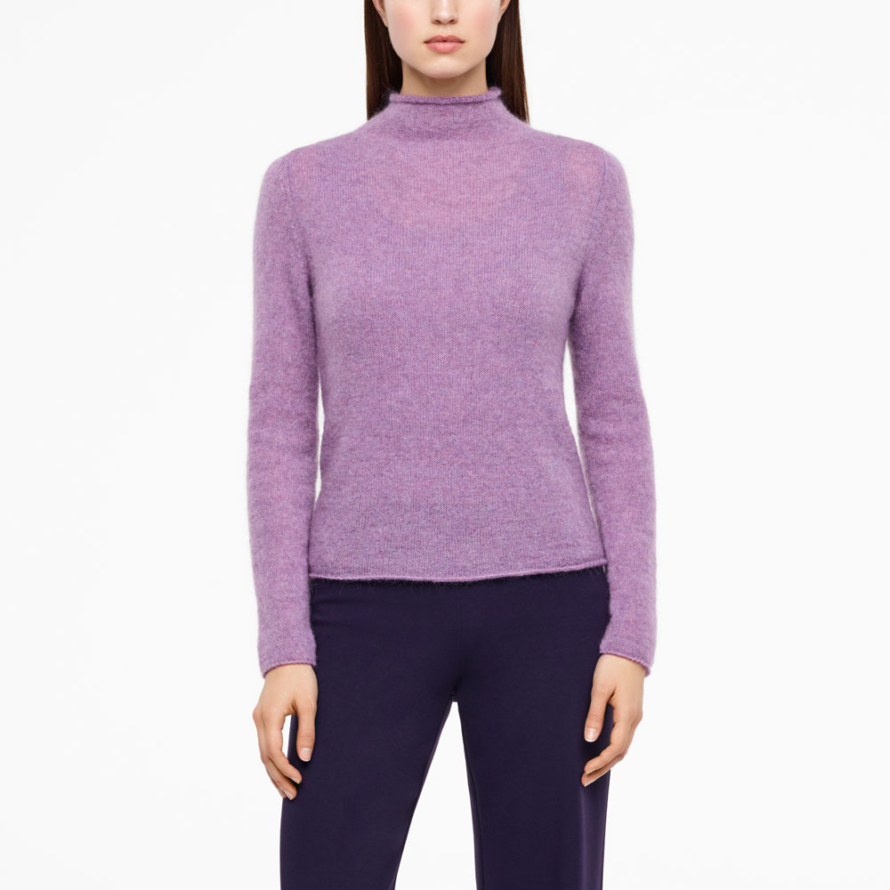 Sarah Pacini MOHAIR-MERINO SWEATER - FULL SLEEVES Front