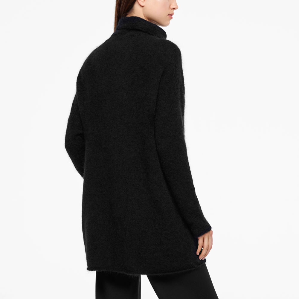 Sarah Pacini MOHAIR MERINO SWEATER - FULL SLEEVES Back view