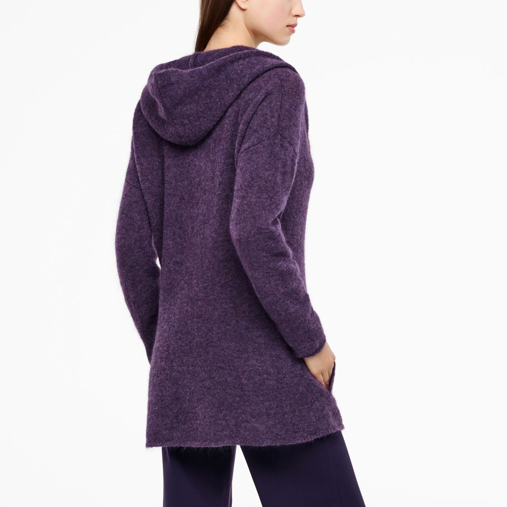 Sarah Pacini MOHAIR-MERINO CARDIGAN - FULL SLEEVES Back view