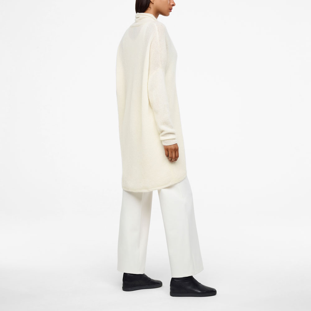 Sarah Pacini LONG MOHAIR-MERINO CARDIGAN Back view