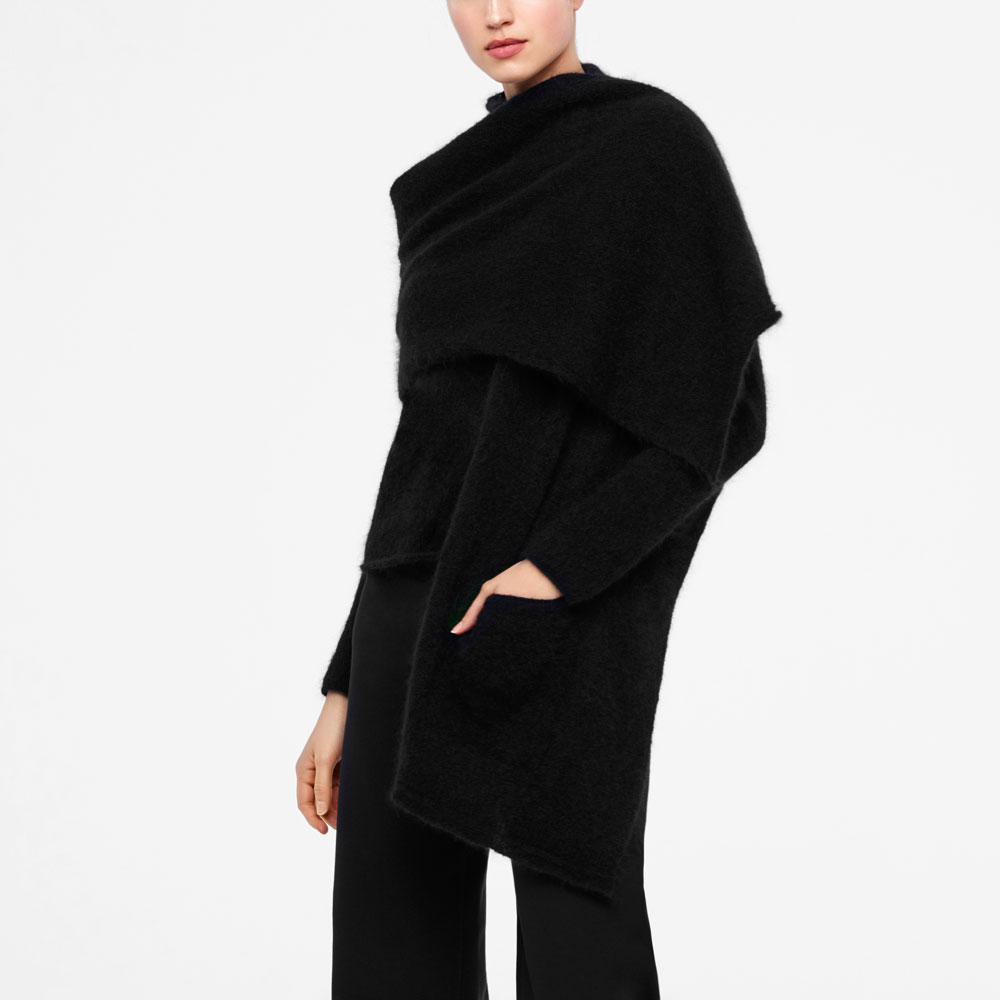 Sarah Pacini MOHAIR-MERINO SCARF - SHAWL-STYLE Front