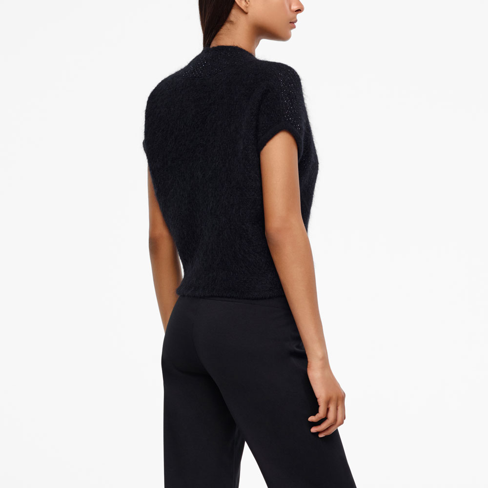 Sarah Pacini MOHAIR-MERINO WRAP-TOP - BRILLIANT KNITTING Back view