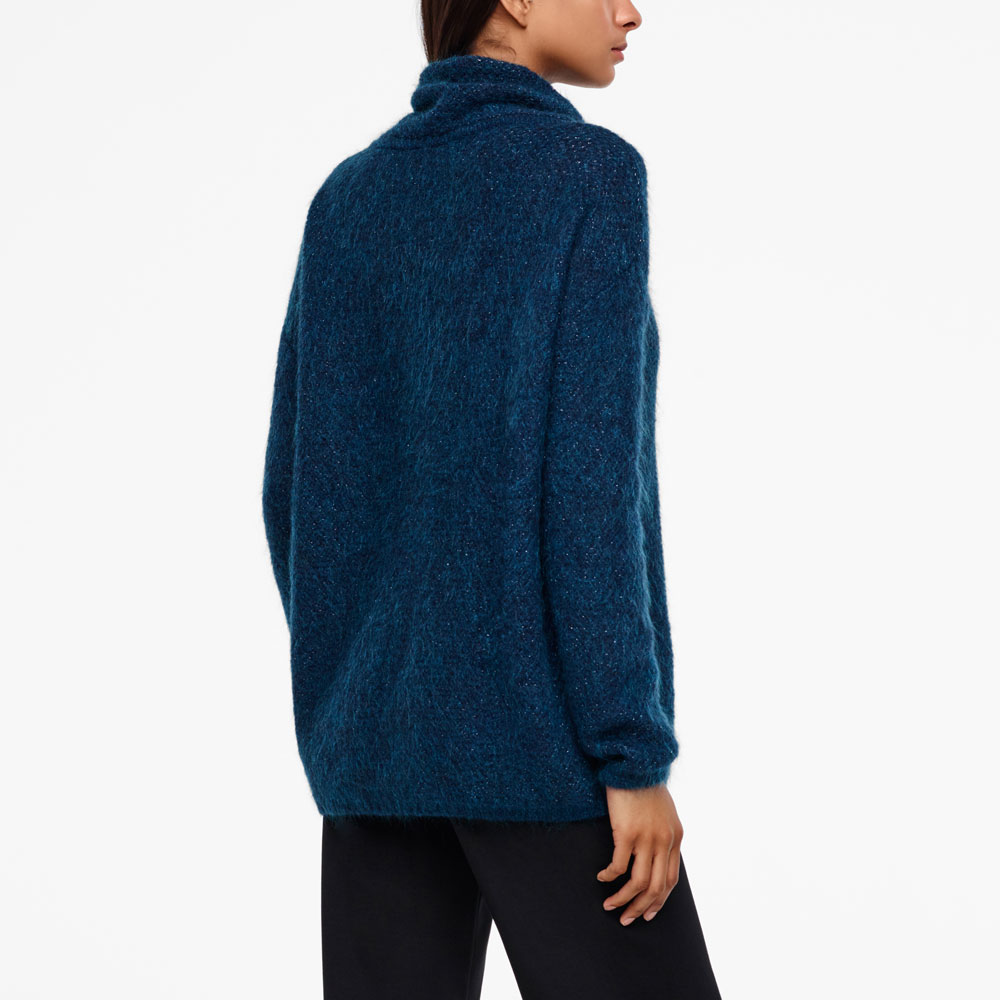 Sarah Pacini MOHAIR-MERINO SWEATER - BRILLIANT KNITTING Back view