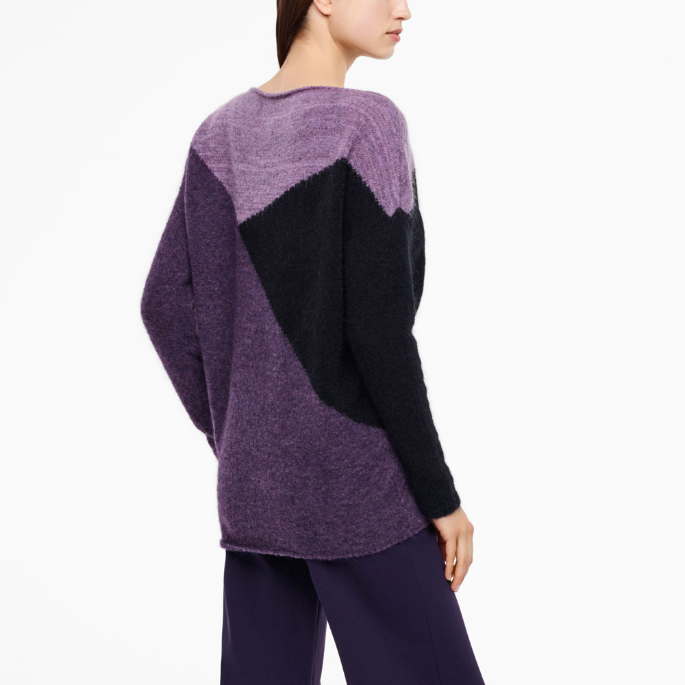 Sarah Pacini PULL LONG - MOTIF COLOR BLOCK Derrière