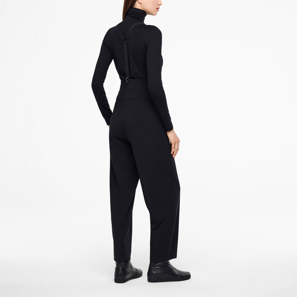 Sarah Pacini GABARDINE PANTS - SUSPENDERS Back view