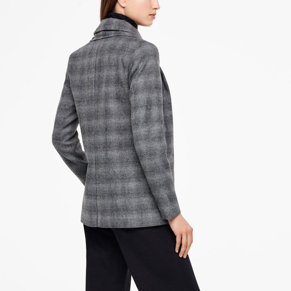 Sarah Pacini PRINCE OF WALES JACKET - SCARF Back view