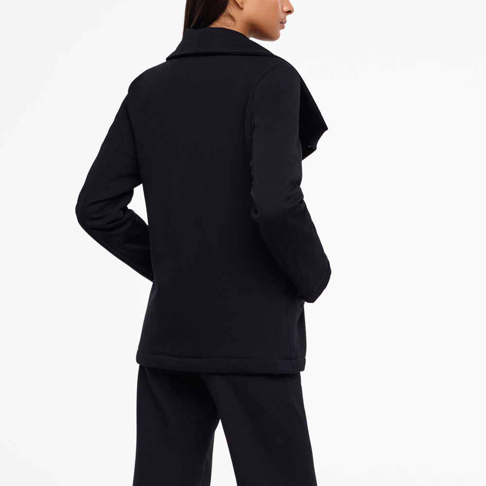Sarah Pacini JERSEY COAT Back view