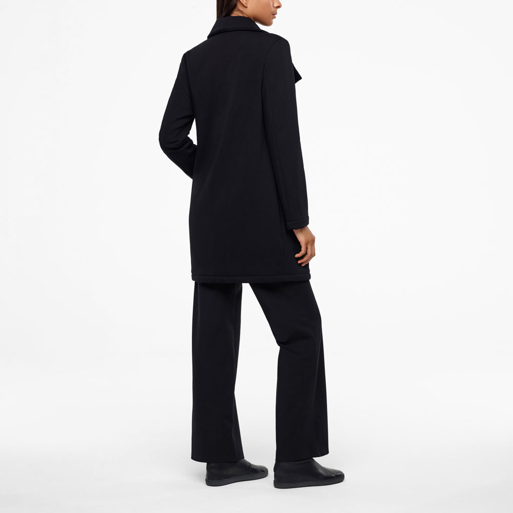 Sarah Pacini LONG JERSEY COAT Back view
