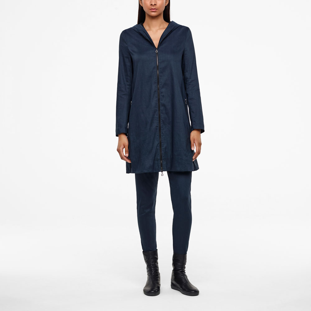Sarah Pacini MANTEAU 7/8 - LIN STRETCH De face