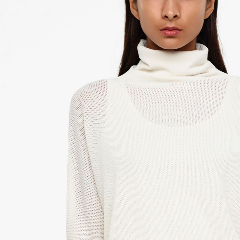 Sarah Pacini SEAMLESS SWEATER - COWL NECK Front