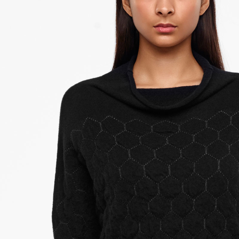 Sarah Pacini HONEYCOMB SWEATER Front