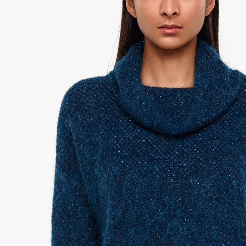 Sarah Pacini MOHAIR-MERINO SWEATER - BRILLIANT KNITTING Front