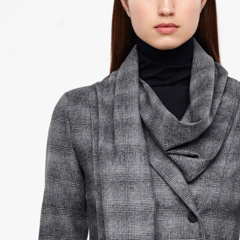 Sarah Pacini PRINCE OF WALES JACKET - SCARF Front